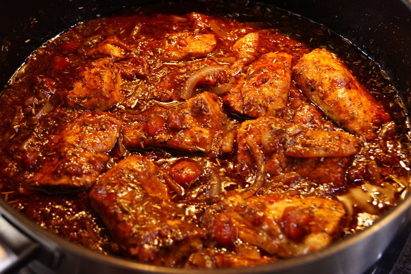 Duszony kurczak balsamiczny